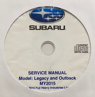 2015 Subaru Legacy and Outback Workshop Manual
