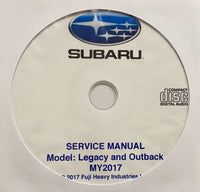 2017 Subaru Legacy and Outback Workshop Manual