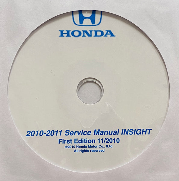 2010-2011 Honda Insight Workshop Manual