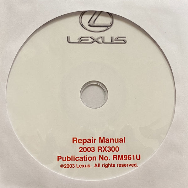 2003 Lexus RX300 Workshop Manual