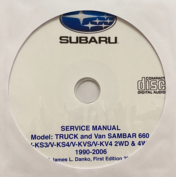 1990-2006 Subaru Sambar 660 Truck and Van Workshop Manual