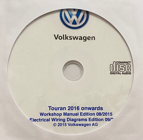 2016 onwards Volkswagen Touran Workshop Manual