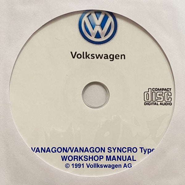 1980-1991 Volkswagen Vanagon/Vanagon Syncro Workshop Manual