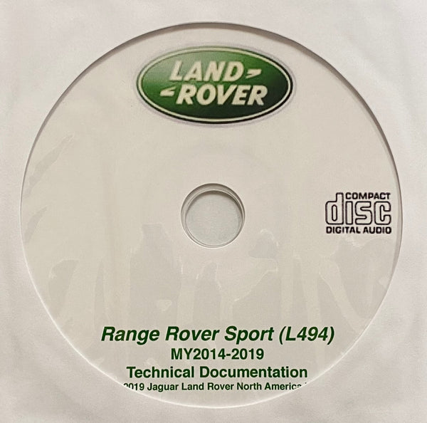 2014-2019 Range Rover Sport (L494) Workshop Manual