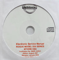 2008 Nissan Rogue Model S35 series US Wortshop Manual