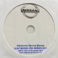 2011 Nissan Leaf Model ZE0 Series US Workshop Manual