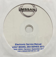 2013 Nissan Leaf Model ZE0 Series US Workshop Manual