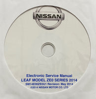 2014 Nissan Leaf Model ZE0 Series US Workshop Manual