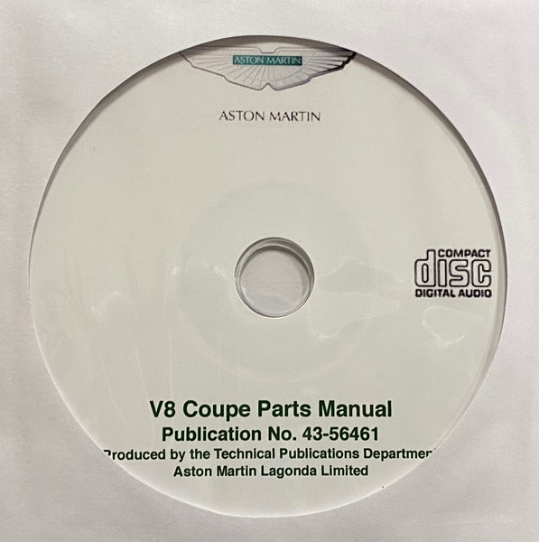 1973-1985 Aston Martin V8 Coupe Parts Manual