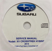 2014 Subaru XV Crosstrek Hybrid Workshop Manual