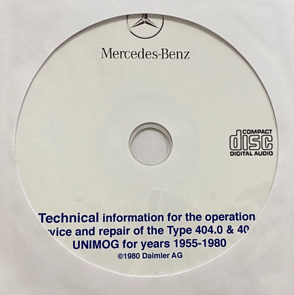 1955-1980 Mercedes-Benz Unimog Type 404.0 and 404.1 Workshop Manual