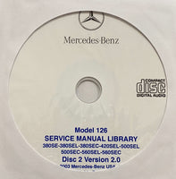 1981-1991 Mercedes-Benz Model 126 US Workshop Manual