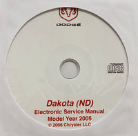 2005 Dodge Dakota (ND) Workshop Manual