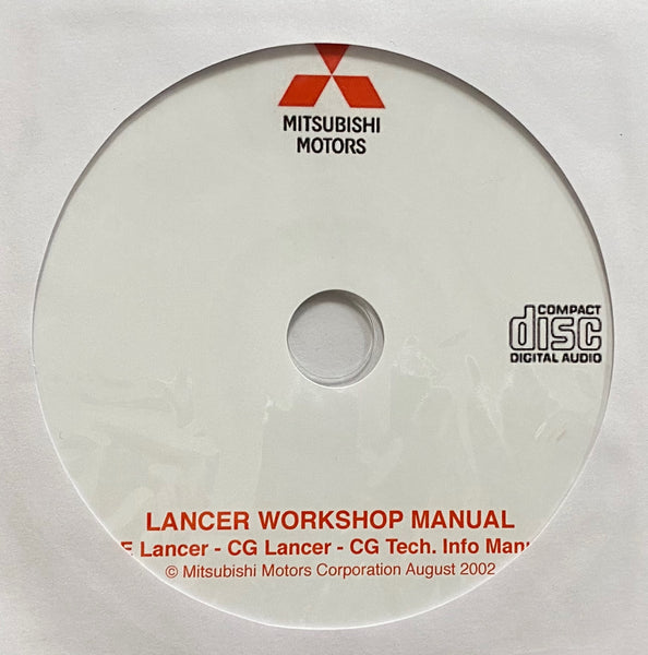 2000-2002 Mitsubishi Lancer CE-CG Workshop Manual