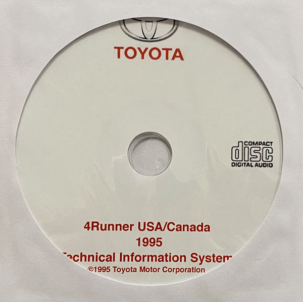 1995 Toyota 4Runner USA, Canada Workshop Manual