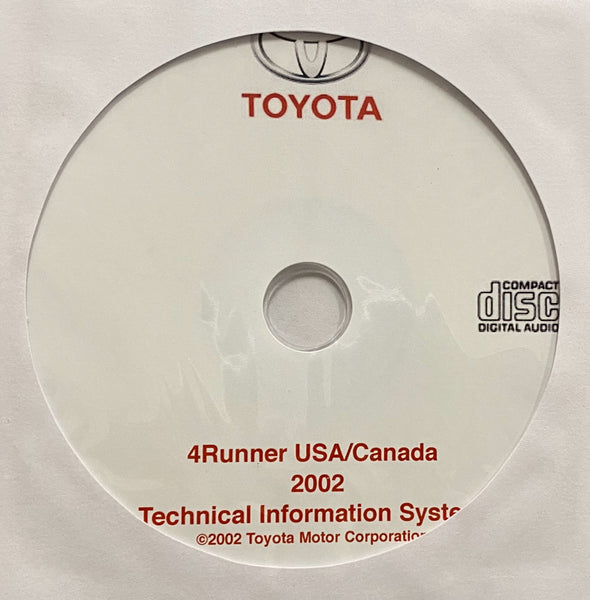 2002 Toyota 4Runner USA and Canada Workshop Manual