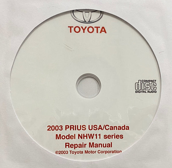 2003 Toyota Prius Model NHW11 series USA and Canada Workshop Manual