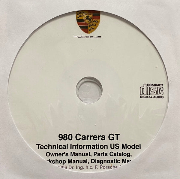 Porsche 980 Carrera GT Technical Information US Models