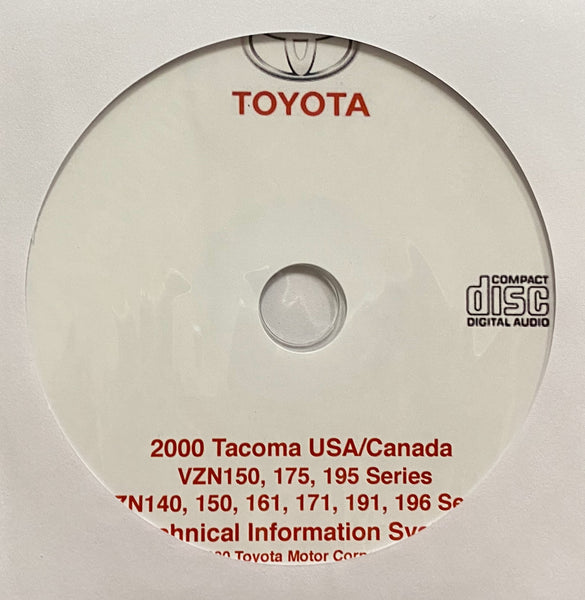 2000 Toyota Tacoma USA and Canada Workshop Manual