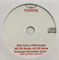 2002 Toyota Camry USA and Canada Workshop Manual
