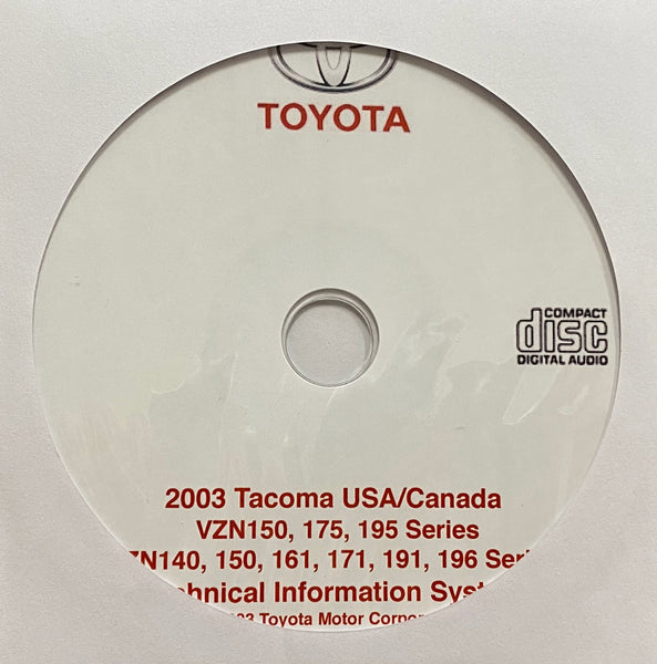 2003 Toyota Tacoma USA and Canada Workshop Manual