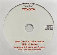 2004 Toyota Corolla USA and Canada Workshop Manual