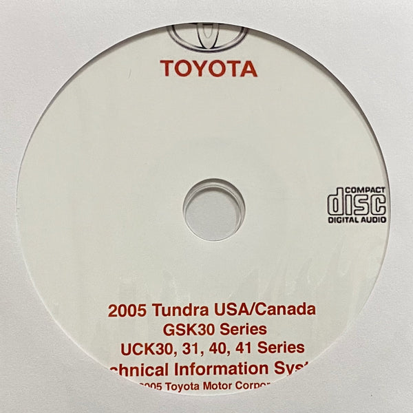 2005 Toyota Tundra USA & Canada models Workshop Manual