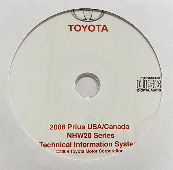 2006 Toyota Prius USA and Canada models Workshop Manual