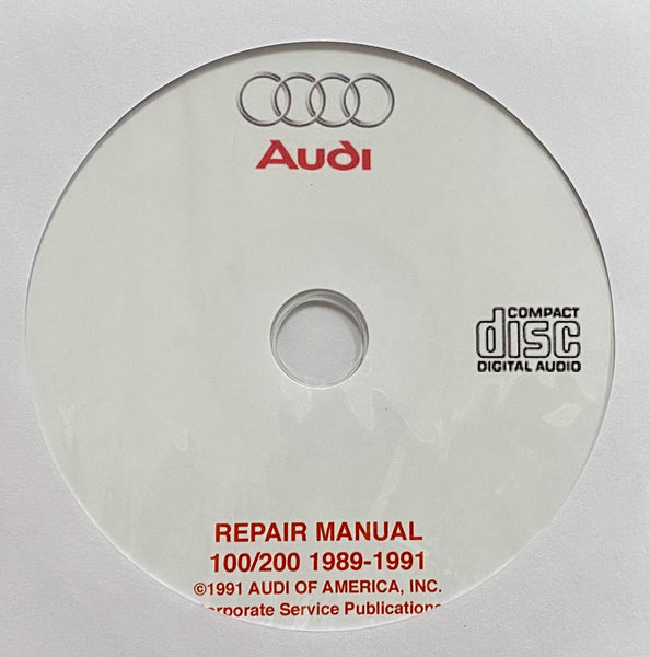 1989-1991 Audi 100 and 200 USA and Canada models Workshop Manual
