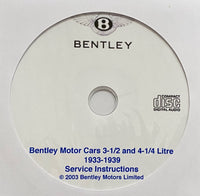 1933-1939 Bentley 3-1/2 and 4-1/4 Litre (Derby) Workshop Manual