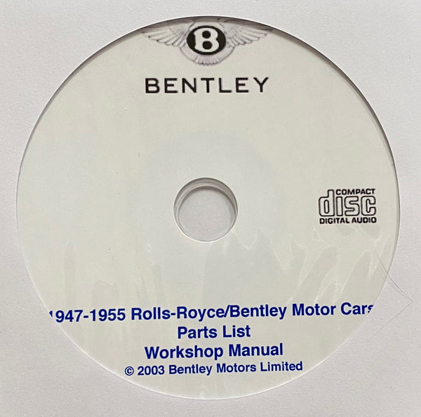 1947-1955 Rolls-Royce and Bentley models Parts List and Workshop Manual
