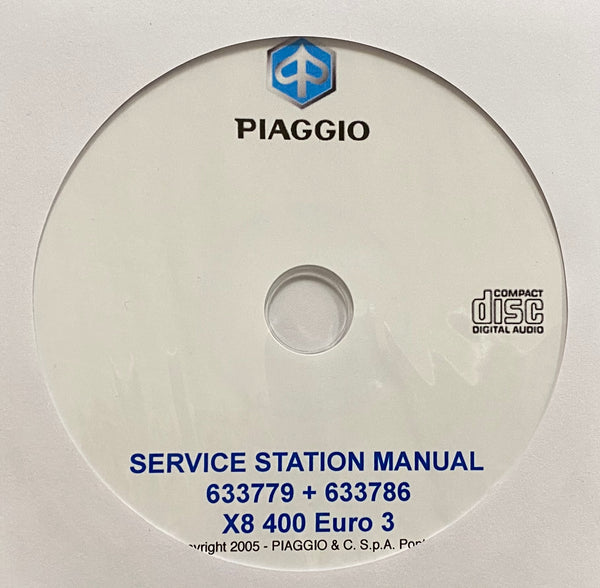 2005 Piaggio X8 Euro 3 Workshop Manual