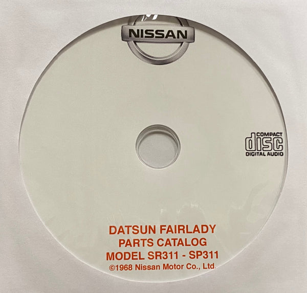 1967-1970 Datsun Fairlady Model SR311 and SP311 Parts Catalog