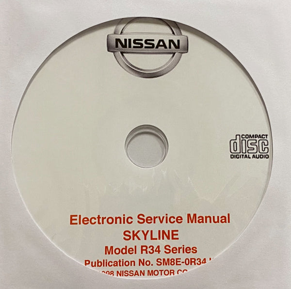 1998-2002 Nissan Skyline Model R34 Series Workshop Manual
