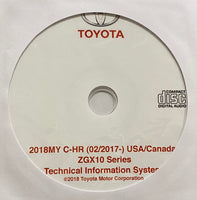 2018 Toyota C-HR ZGX10 Series USA and Canada Workshop Manual