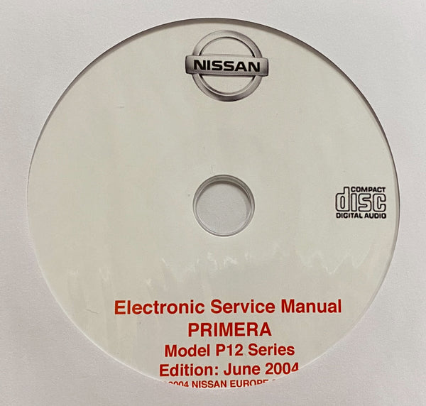 2001-2007 Nissan Primera Model P12 series Workshop Manual