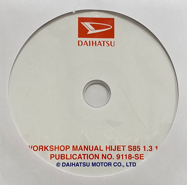 1986-1994 Daihatsu Hijet S85 1.3 16V Workshop Manual