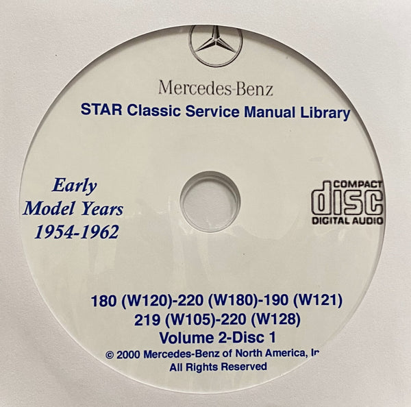 1954-1971 Mercedes-Benz 180, 190, 219, 220, 230, 250, 280 Workshop Manual