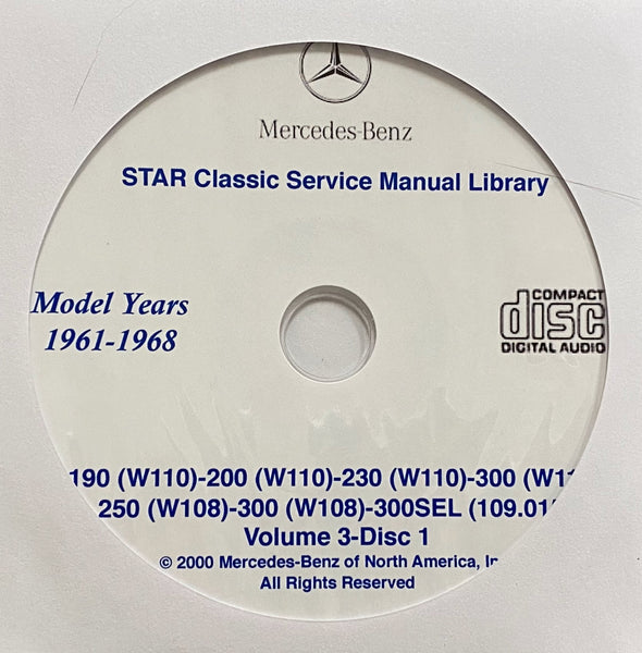 1961-1973 Mercedes-Benz 190-200-230-250-280-300 Workshop Manual