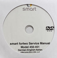 2008-2012 smart fortwo Model 450-451 Workshop Manual