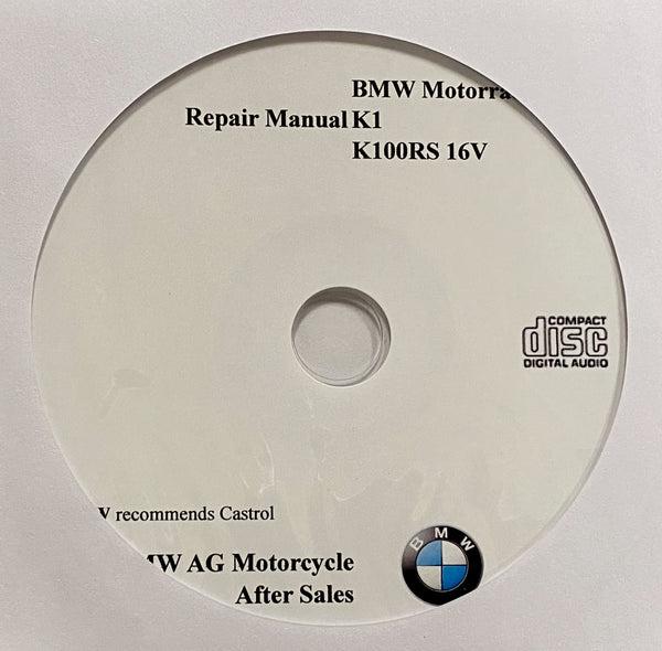1988-1993 BMW Motorcycle K1-K100RS 16V Workshop Manual