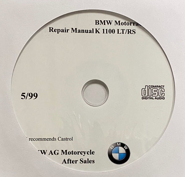 1992-1999 BMW Motorcycle K1100 LT/RS Workshop Manual