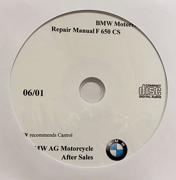 2001-2005 BMW Motorcycle F650CS Workshop Manual