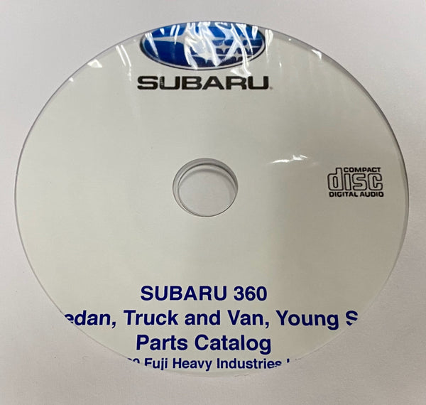 1969-1971 Subaru 360 Sedan, Truck, Van, Young S Parts Catalog