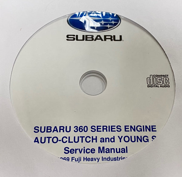 1968-1971 Subaru 360 Series Engine, Auto-Clutch and Young S Workshop Manual