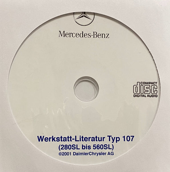 1972-1989 Mercedes-Benz 280SL-560SL (W107) Workshop Manual in GERMAN
