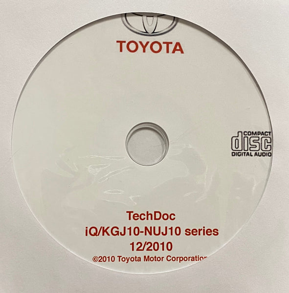 2008-2016 Toyota/Scion iQ KGJ10-NUJ10 series Workshop Manual
