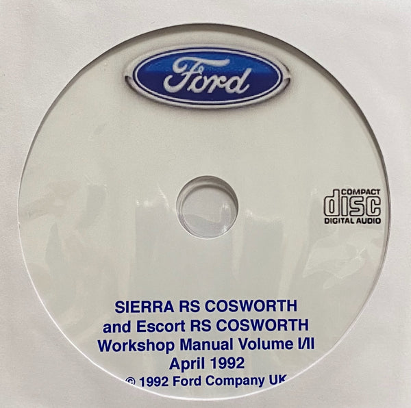 1986-1992 Ford Sierra RS Cosworth and Escort RS Cosworth Workshop Manual