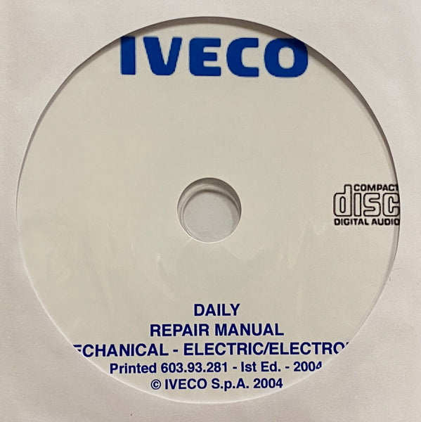 2004 Iveco Daily Workshop Manual