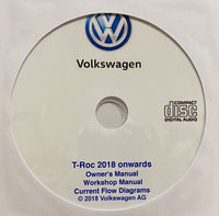 2018 onwards VW T-Roc Owner's Manual, Workshop Manual, Wiring Diagrams